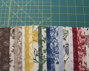 """42 Layer Cake 10"""" Square BELCOURT COLLECTION Reproduction 100% Cotton Squares Quilt Fabric By Kaufman Fabrics"""