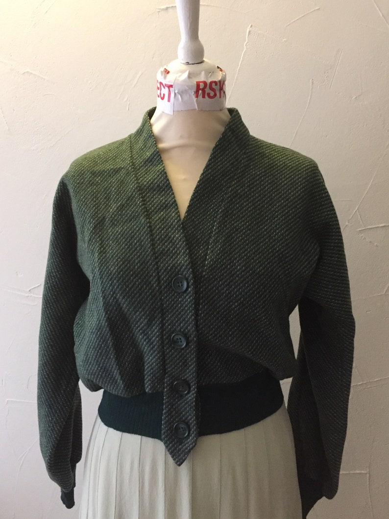 Vintage 40/'s 50/'s wollen kort jasje