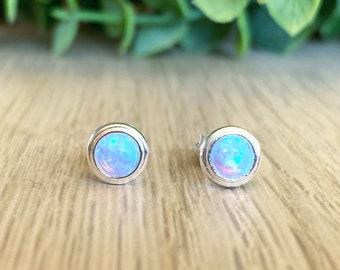 Silver Pendant with Lab Opal Plumeria 25 mm Stone Blue Lab Opal fashion Women's