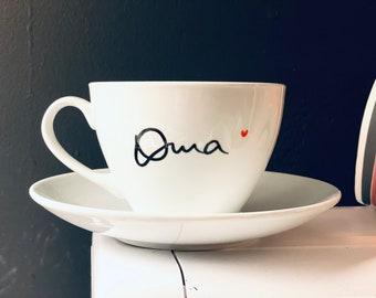 Nice big cup for grandma, latte, cappuccino, grandma 2022