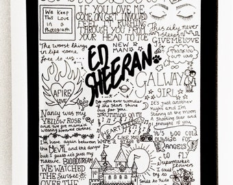 Ed Sheeran Quote Etsy