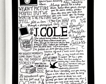 J Cole Poster Etsy