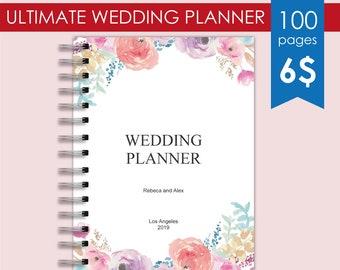 wedding planner binder printables wedding roster wedding etsy