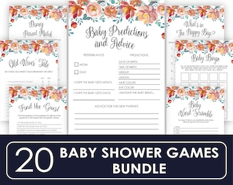 Baby Shower Games Printable Baby Shower Games Package Baby Shower Activity Printable Baby Shower Bingo Baby Shower Printable Games