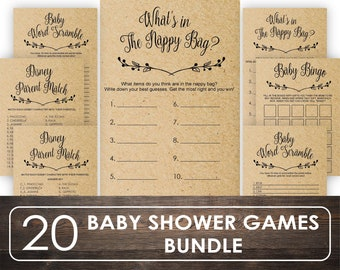 Baby Shower Games Etsy