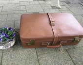 Leather case,antique leather suitcase luggage brown antique genuine leather suitcase - vintage,