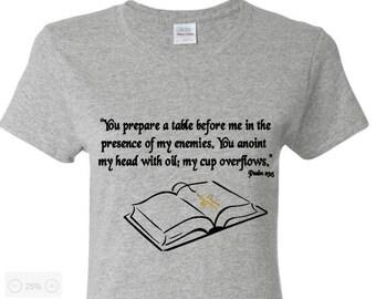 cbf5b2af6a7a0d Bible Verses Shirts Psalms 23 5