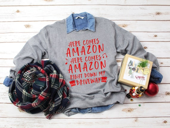 Womens Christmas Sweater Christmas Sweater Here Comes Amazon Etsy