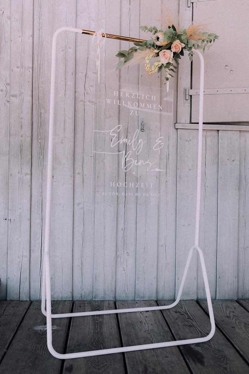 Acrylglas Willkommensschild