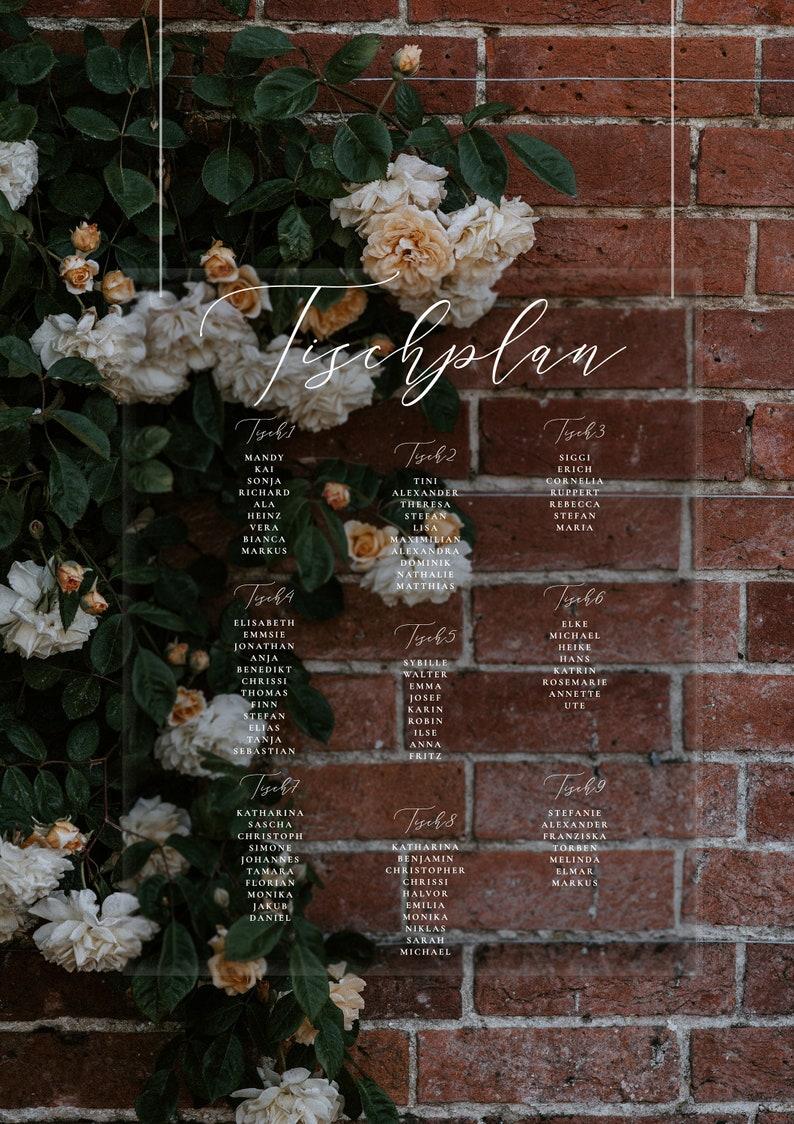 Hochzeit Sitzplan Acryl