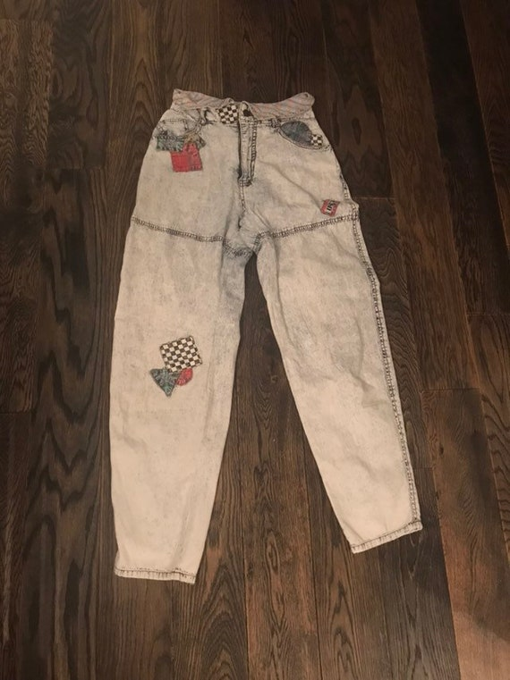 Used Highwaisted Patch Jeans