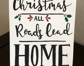 "Outdoor//Indoor All Roads Lead Home Wall Decor Novelty Metal Arrow Sign 5/"" x 17/"""