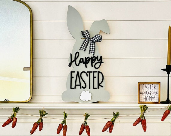 Farmhouse Easter Sign | Farmhouse Easter Door Hanger | Easter Mantel Décor | Farmhouse Easter Wreath
