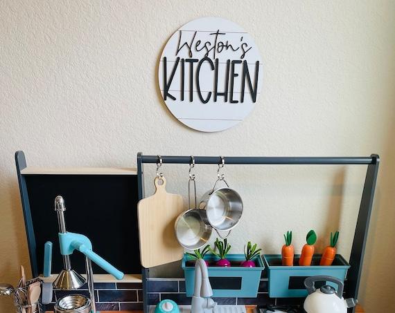 Kid's Kitchen Sign | Kid's Play Kitchen | Play Kitchen Décor | Play Kitchen Accessories | Kid's Name Sign |