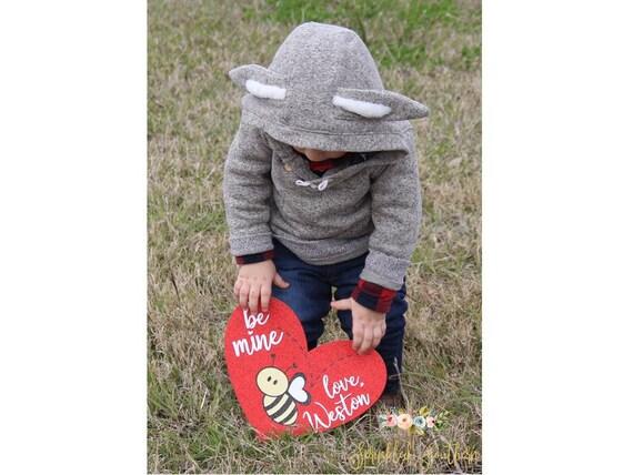 Baby's First Valentine's Day Valentine for photos, Baby Boy's or Girl's First Valentines day photo prop, Valentines Baby Gift