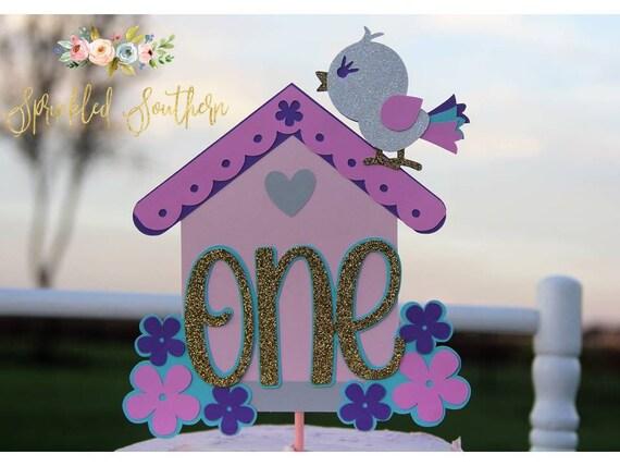 Bird First Birthday Cake Topper, Birdie First Birthday Smash Cake, Baby Bird Party