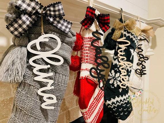 Stocking Name Tag, Dog stocking, Cat stocking, Stocking Name Sign, Personalized stocking