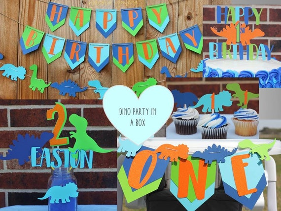 Dinosaur Birthday Party Package- Any Age- Dinosaur Party in a Box