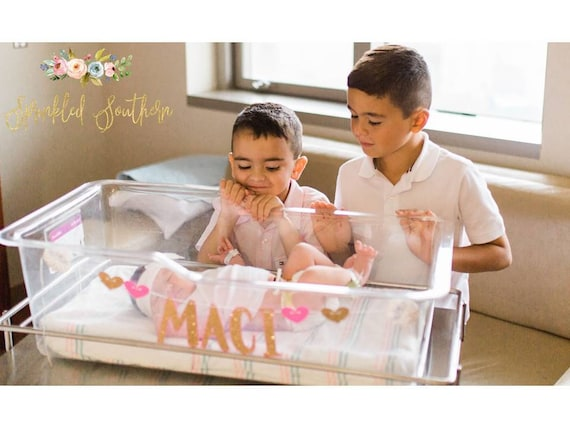 Newborn Name Banner for Hospital Bassinet, Nursery Decor, or Photo Shoot
