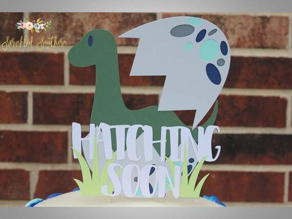 Modern Dinosaur Baby Shower Cake Topper