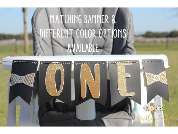 Mr. ONEderful High Chair Banner for Boy First Birthday