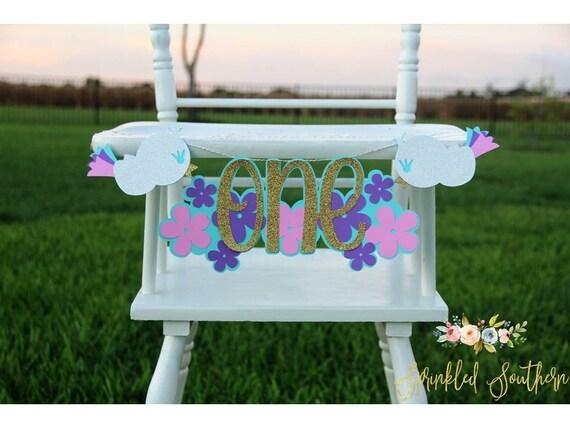 Bird First Birthday High Chair Banner, Birdie First Birthday High Chair Sign, Baby Bird Party