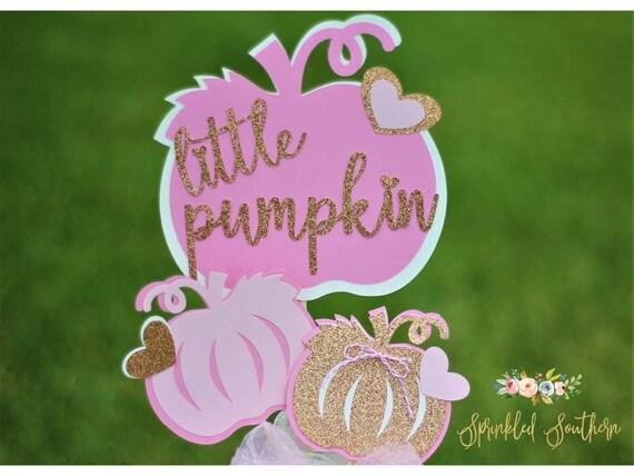 Little Pumpkin Baby Shower Centerpiece or First Birthday Pumpkin Theme Centerpiece