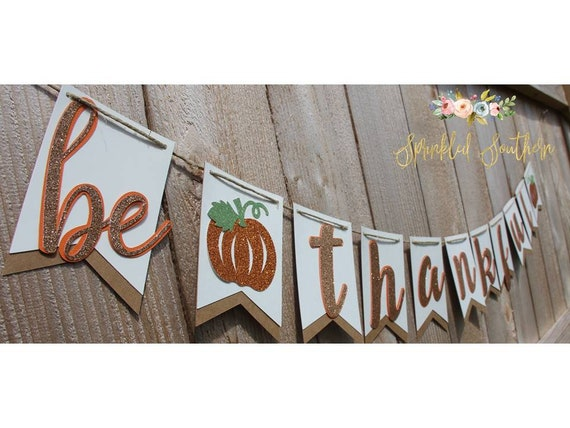 Fall Thanksgiving Decoration Banner for Fireplace