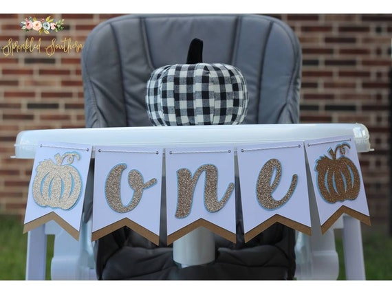 Little Pumpkin High Chair Banner