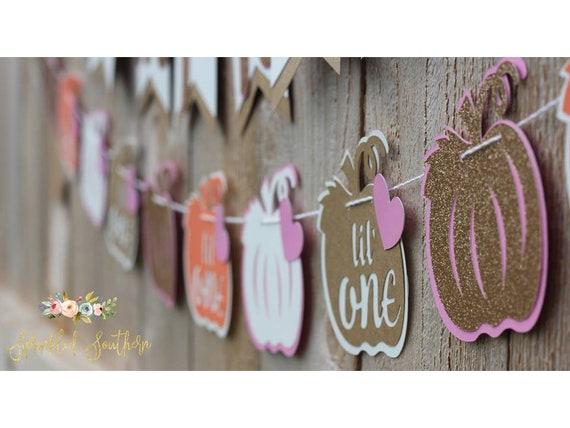 Little Pumpkin Theme Girl Garland for Baby Shower or First Birthday