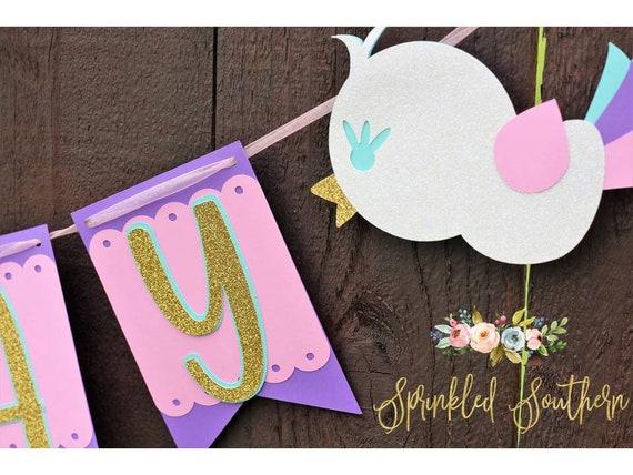 Bird First Birthday Banner, Birdie First Birthday Sign, Baby Bird Party