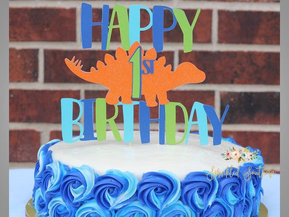 Dinosaur Birthday Cake topper, Dinosaur Birthday Smash Cake