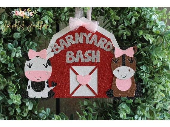 Farm Birthday Party Door Sign