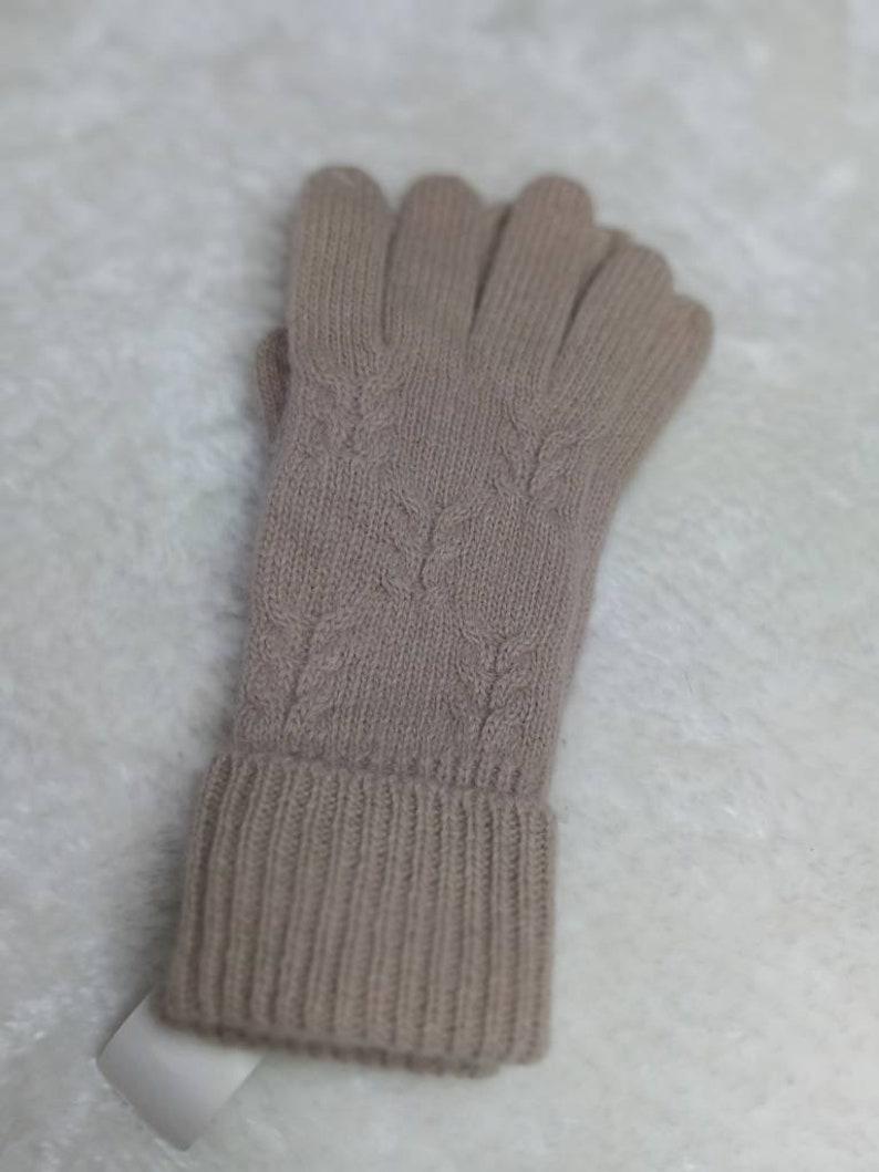 deadstock gloves elegant vintage knitted gloves lamb wool angora blend Wool mix 90s knitted gloves