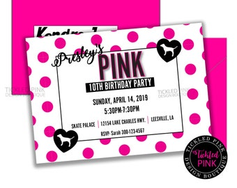 e42b72bb6eb5 Victoria Secret Birthday Party Invitation. VS Pink Party Supplies. Digital  File Only.