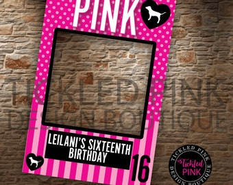 d9930fd6fd Victoria Secret Pink Photo Frame. VS Pink Birthday Party Supplies. Digital  File Only.