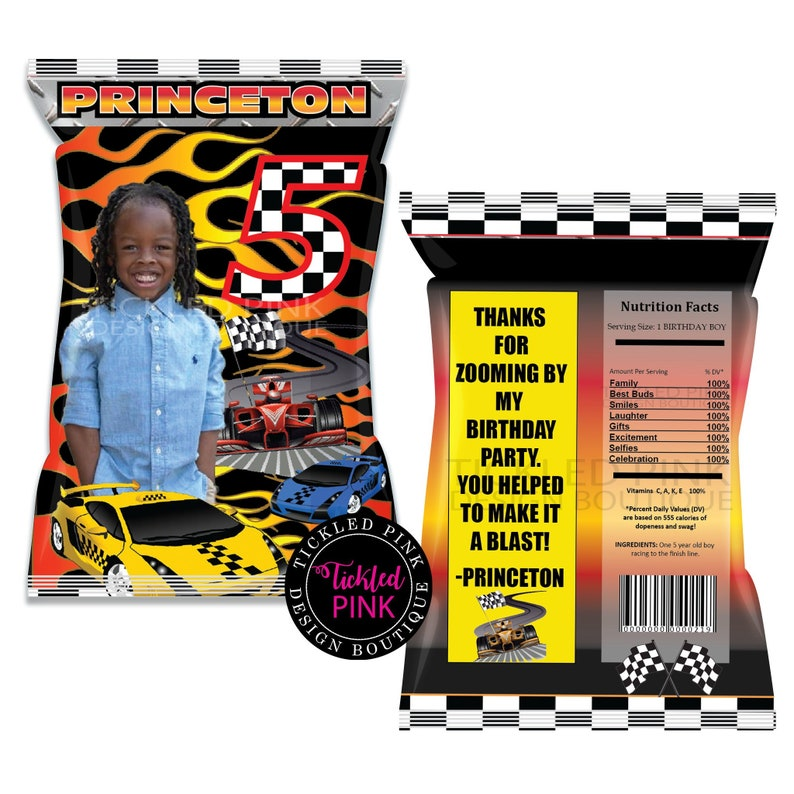 Race Car.Hot Wheels Chips Bags Digital File Only.