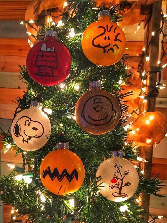 Charlie Browns Christmas.Peanuts Christmas Collection Glass Christmas Ornament Charlie Brown Christmas Snoopy Christmas Great Holiday Gift
