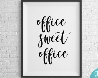 Bon Office Sweet Office Print, Office Wall Decor, Office Wall Art, Positive  Work Quotes, Motivational Wall Decor, Office Prints, Office Decor