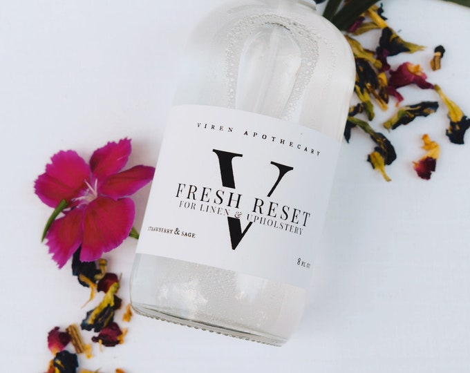 LIMITED EDITION: fresh reset fabric refresher in seasonal fragrances blood orange currant and cucumber cotton