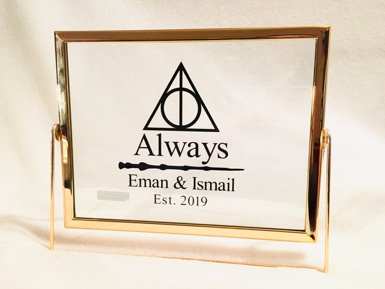 Harry Potter Wedding Gift or Anniversary Gift Custom \u201cAlways\u201d Decal Personalized Harry Potter Inspired Gift