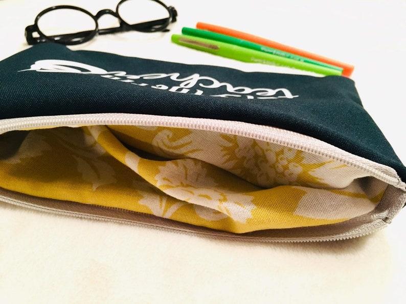 Teacher Pouch zipper pouch School Pencil case Teacher gift under 20 dollars Hogwarts teacher zipper pouch