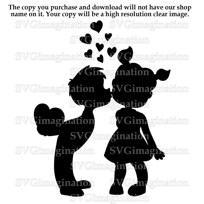 Svg file / Love SVG / Instant Download / Cricut / Silhouette / DXF File /  Png file / Kids dxf file / Love Png file / Kids in Love file