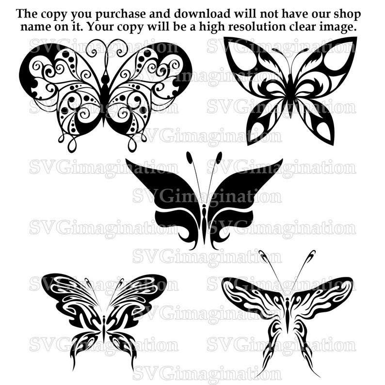 Svg file / Butterfly SVG / Instant Download / Cricut / Silhouette / DXF  File / Png file / Butterflies dxf file / Butterflies svg Bundle
