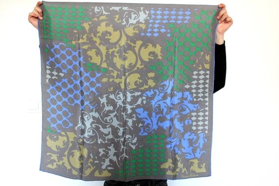 Vintage Silk Scarf, Designer Scarf, Neck Scarf, Ha