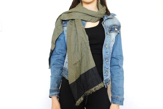 Vintage Long Silk Scarf, Made in Italy, Designer I