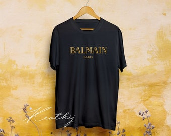eb9eb9c8 Vintage Style Designer Print Balmain Paris Inspired - t-shirts T-Shirt Man  And Women Clothing, Designer Tshirt, Luxury Shirt