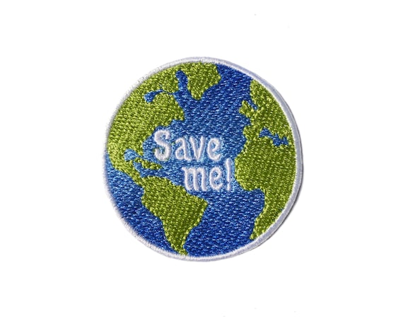 DIY Embroidered Earth Planet Applique Patches Sewing Iron On Frabic HandCraft