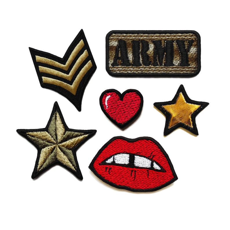 Army Set of Patches Sew on Patch Embroidered Patch Applique Patches for  Backpacks Military Patches For DIY Lover Fix Your Clothes Cute Patch
