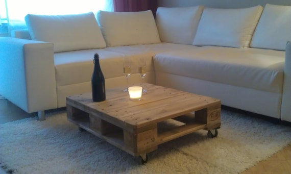 Coffee Table Palettentisch Upcycling Table Euro Pallet Etsy